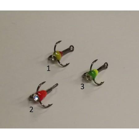 Trišakiai kabliukai žieminei blizgutei, balansyrui, Nr.14