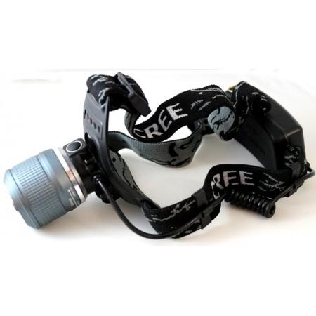 Ultravioletinis ir baltos šviesos žibintuvėlis ant galvos