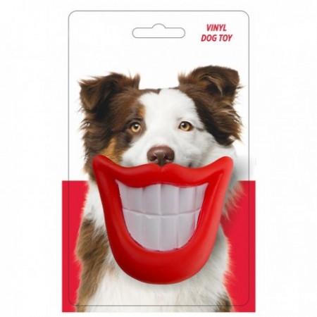 Žaislas šunims guminė cypianti šypsena, 9 cm