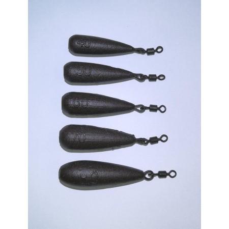 Karpiniai švinai (pailgi), 40-120g