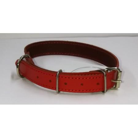 Antkaklis odinis, raudonas, 44,5cm