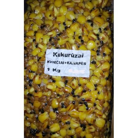 Šutinti kukurūzai Kviečiai+kanapės, 1kg