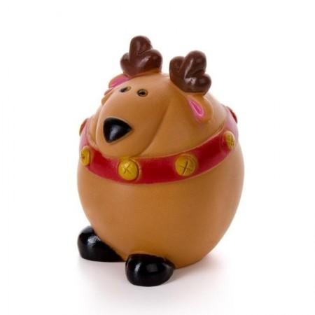 Žaislas šunims guminis cypiantis kalėdinis elnias, 8,5 cm