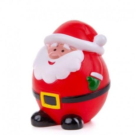 Žaislas šunims guminis cypiantis Kalėdų senelis, 8,5 cm