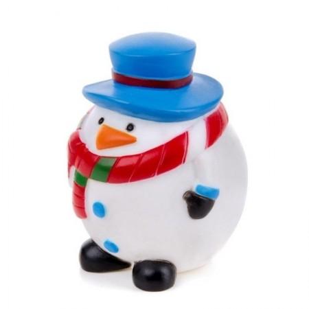 Žaislas šunims guminis cypiantis sniego senis, 8,5 cm