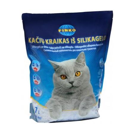 Finko silikagelio kraikas katėms, 7 l