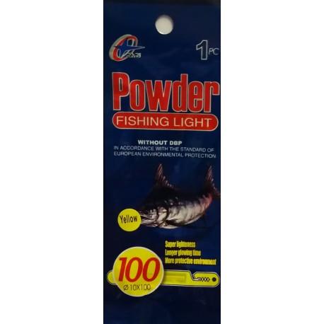 Švieselė naktinei žūklei Powder 10x100 mm