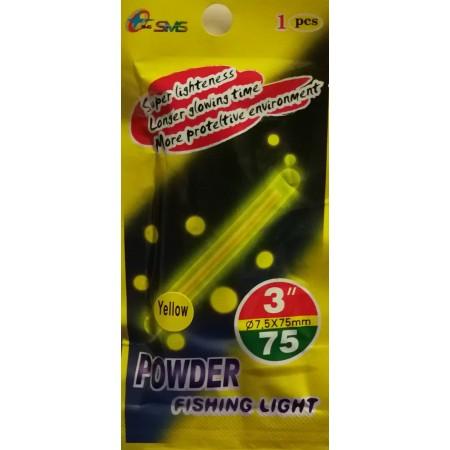 Švieselė naktinei žūklei Powder 7,5x75 mm