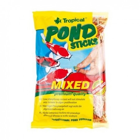 Tropical Pond Sticks Mixed pašaras Koi karpiams spalvotomis lazdelėmis