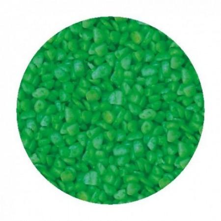 Gruntas akvariumui šviesiai žalias 5-8mm 1kg