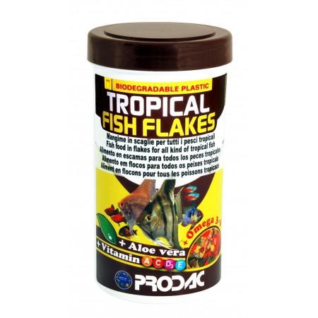 Prodac Tropical Fish Flakes dribsniai visų rūšių tropinėms žuvims 250ml 50g